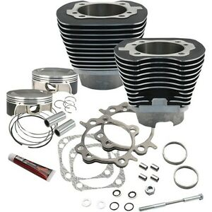 S-amp-S-Cycle-117-034-Big-Bore-Kit-Wrinkle-Black-910-0221-For-Harley-2007-2017-Twin-Cam