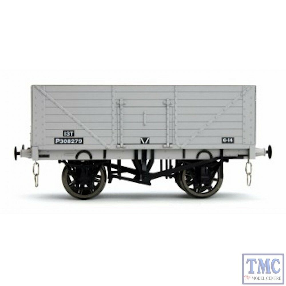 7F-080-023 Dapol O Scale 8 Plank Open Wagon P308279 BR Grey