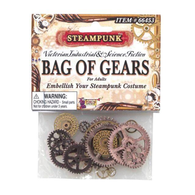 STEAMPUNK GEARS OLD VICTORIAN EMBELLISHMENTS - fancy dress costume accessory