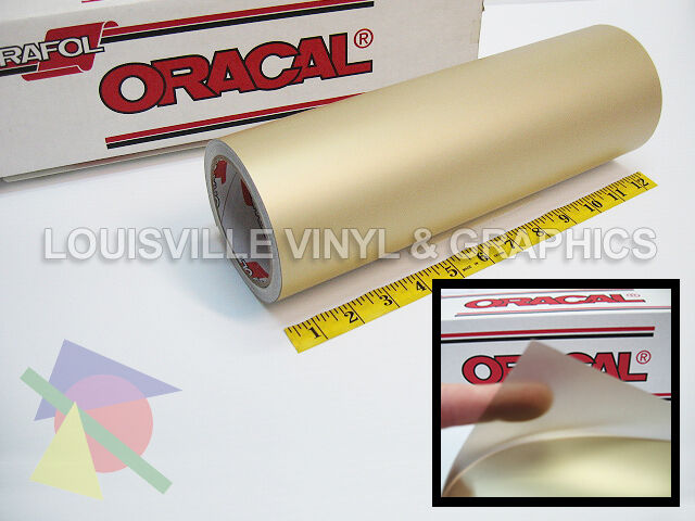 """12"""" X 10ft - Oracal 8510 Gold - Fine Etched Glass Craft & Hobby Cutting Vinyl"""