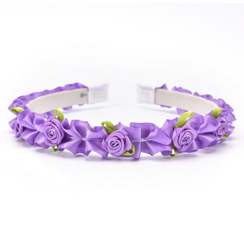 Kids Flower Hairband Baby Wreath Party Wedding Floral Girls Hair Accessories RJ