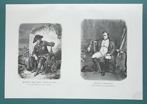MILITARY-LEADERS-Napoleon-amp-Frederick-the-Great-1892-Victorian-Era-Print