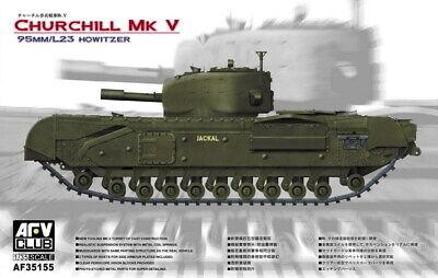 V 95mm//L23 Howitzer # 35155 AFV Club 1//35 Churchill Mk