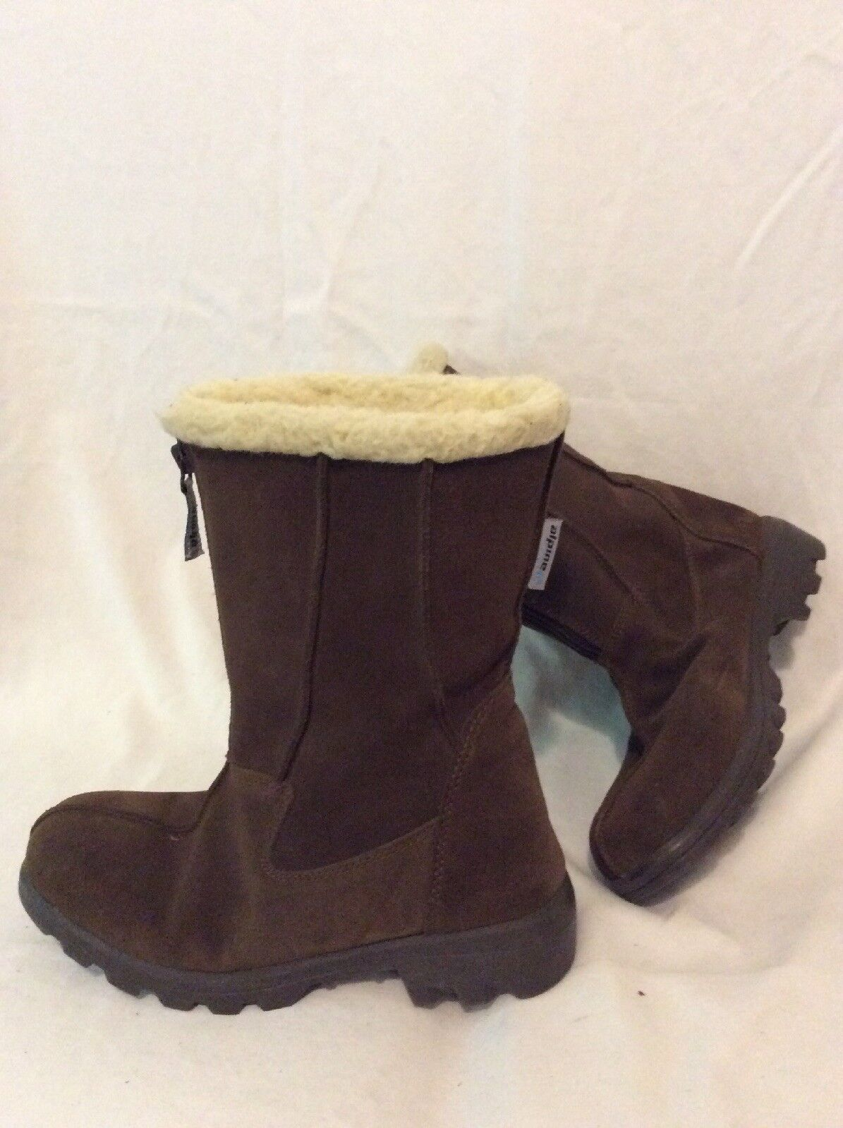 Alpine marron Mid Calf Suede bottes Taille 5