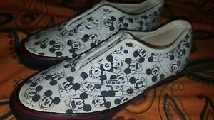 84c676f71494 Vans Vtg Vault Printed Mickey Mouse Canvas Authentic Sneakers Sz 6 ...