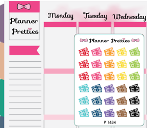 1994~~Monthly Subscription Bill Due Boxes Planner Stickers.