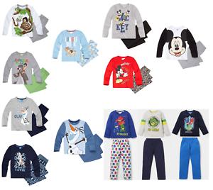 Ninos-Chicos-Con-Licencia-Oficial-Disney-Personaje-varios-Manga-Larga-Pijamas-Pjs