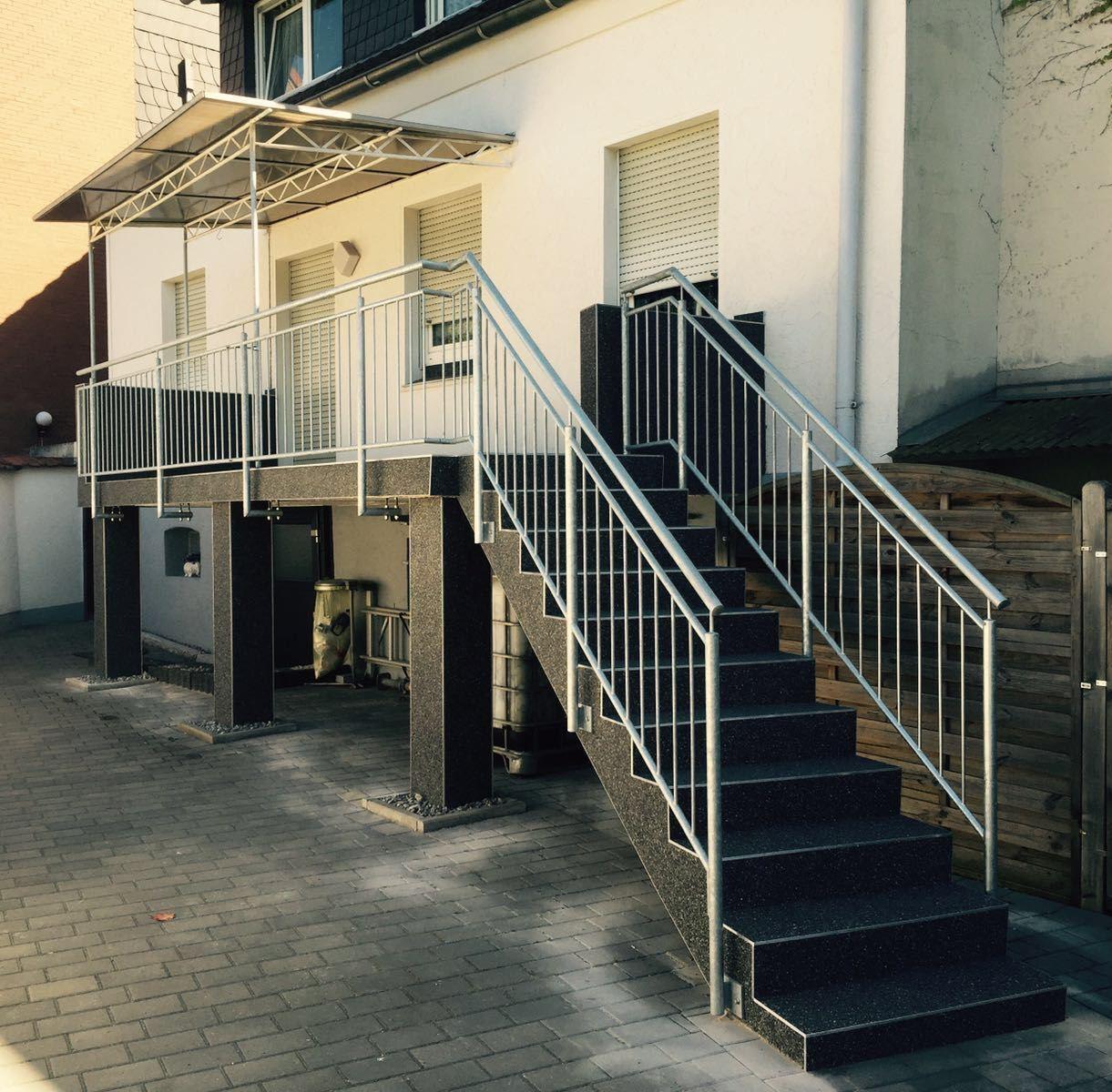 10 m² Steinteppich CARNICO+ Bindemittel  für Aussen M200 Treppe