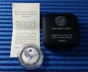 1996-Australia-Kookaburra-Silver-Coin-European-Country-Privy-Mark-Series-France