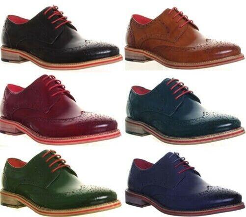 Justin Reece Herren Formell Brogue Schuhe in braun UK Größe 6 - 12