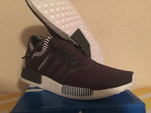 fe484219d Adidas NMD ALL Gray Primeknit Japan Pack flux ultra boost White red ...