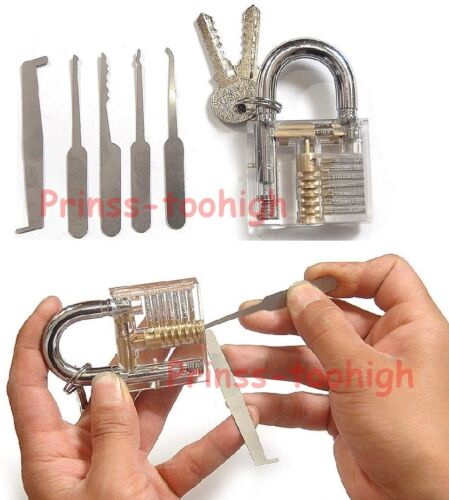Unlocking tools crochetage lockpicking locksmith Lock Pick Set Padlock !