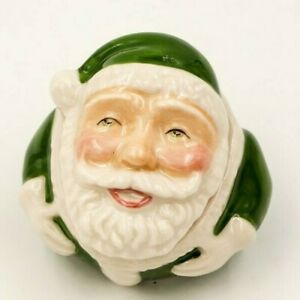 MERRY-CHRISTMAS-CRACKPOTS-Ceramic-Face-Pot-by-Kevin-Francis-SANTA-CLAUS-signed