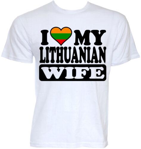 LITHUANIAN T-SHIRTS MENS FUNNY COOL LITHUANIA WIFE FLAG RUDE JOKE GIFTS T-SHIRT