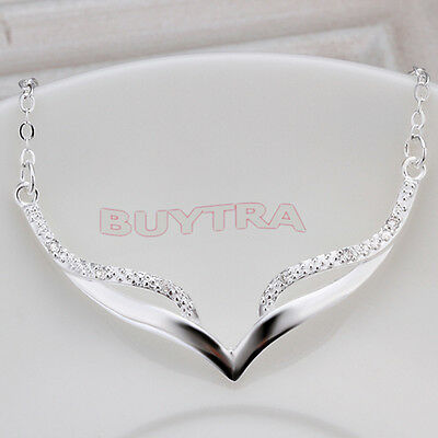 Fashion silver plated Crystal Charm Mask Pendant Necklace CAJX