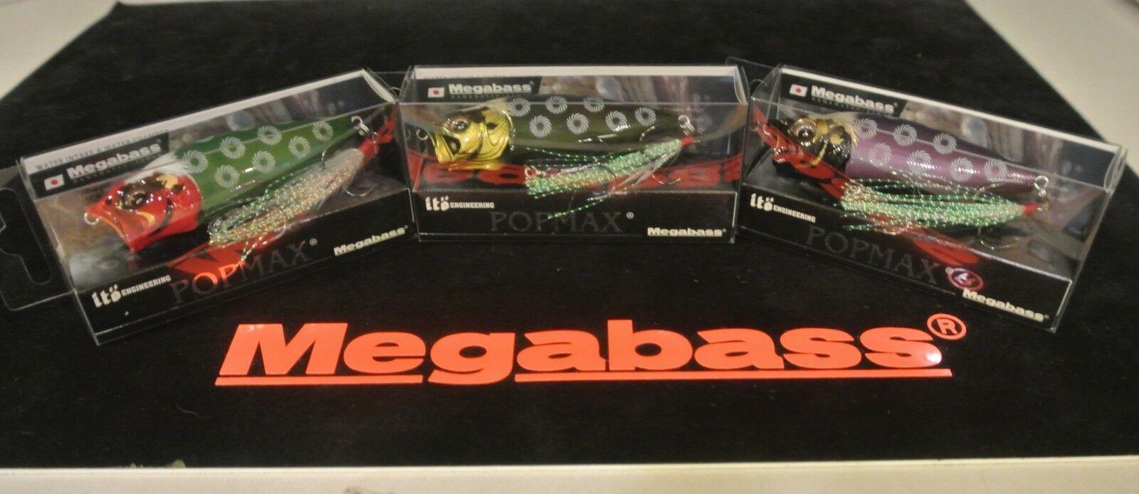 Wow  limitado Megabass karajishi conjunto 3 Señuelos SP-C Max Pop Nuevo en Caja Envío Gratis