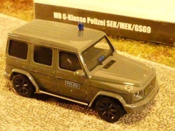 1 87 Herpa MB G Classe w463 eisengris Police Sec