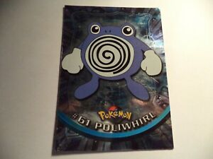 (ARJ) TOPPS TV ANIMATION POKEMON SHINY #61 POLIWHIRL PLAYED IN FAIR CONDITION
