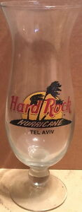 Hard-Rock-Cafe-TEL-AVIV-ISRAEL-Hurricane-Glass-w-Classic-HRC-Logo-amp-Palm-Trees