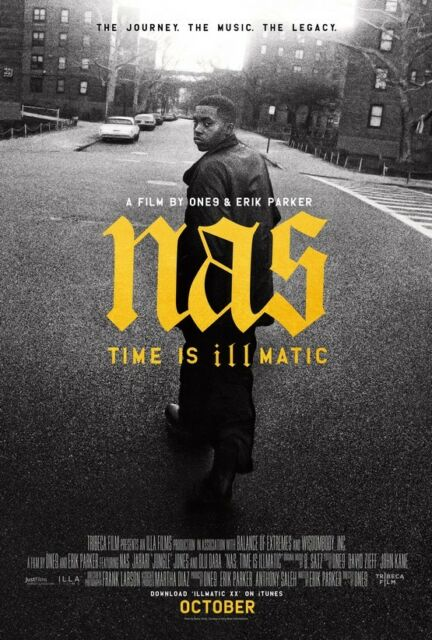 TIME IS ILLMATIC (2014) BY ONE9 & ERIC PARKER - NAS -  POSTER USA 1220DJV