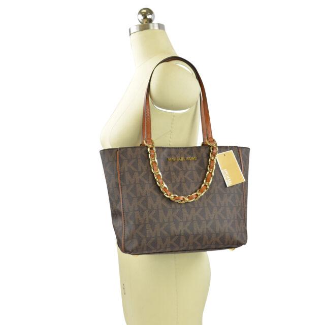 f7a8aaf4489d Michael Kors 30h3grpt6b Harper Signature M East West Tote Bag Handbag Brown