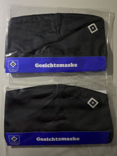Nur der HSV Gesichtsmaske Waschbar schwarz Mund /& Nase Schutz 2 x Hamburger S.V