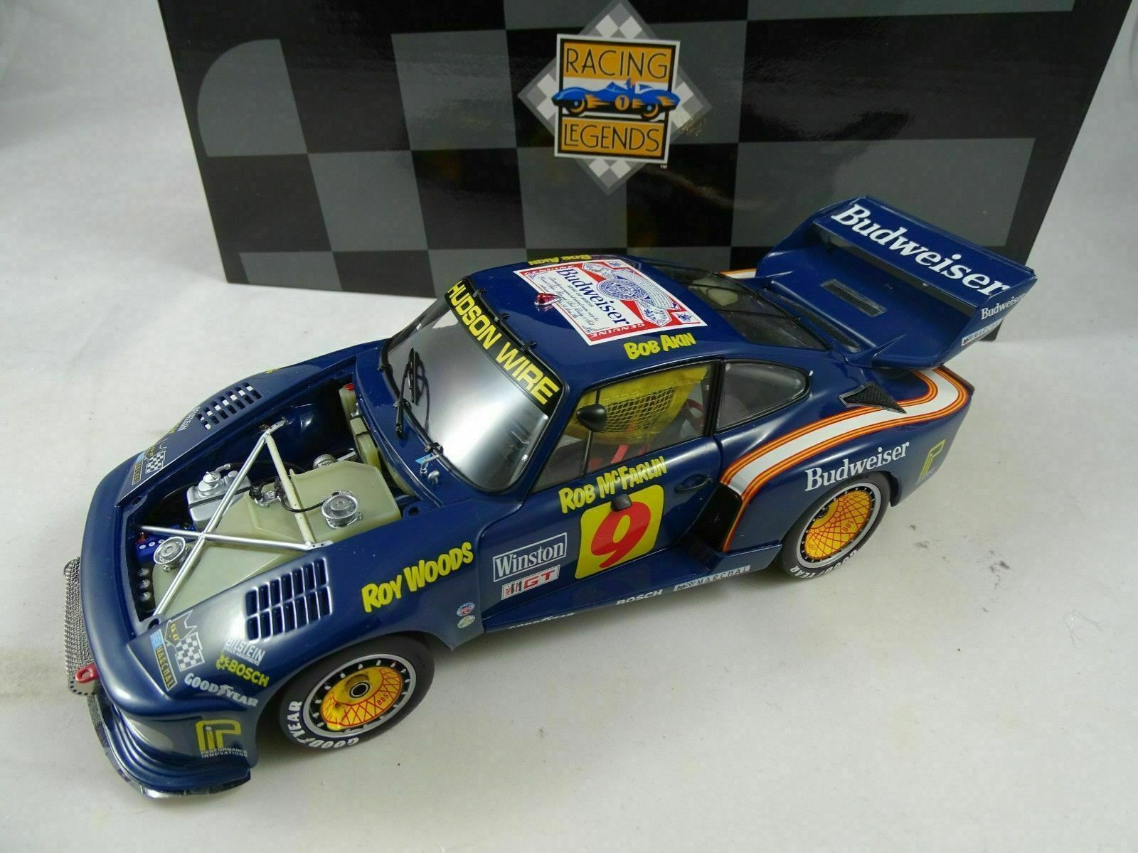 1 18 Exoto 19104 Porsche 935 Turbo Budweiser Sebring Ganador   Nuevo Ovp