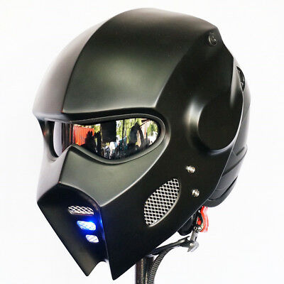 Helmet Fancy Predator Style LED Black /& Red Harley Davidson Motorcycle Size M-L