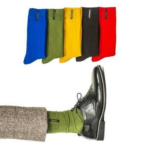 Fashion-Mens-Cotton-Socks-Solid-Color-British-style-Business-Casual-Socks-Gift