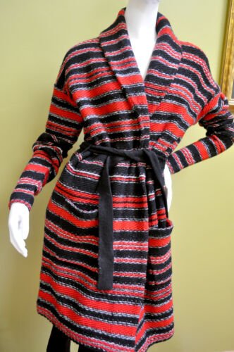 Sweater Kvinder Sort Størrelse Ralph Rød Cardigan Stripe Uld Lille Lauren A4qx5xnv0