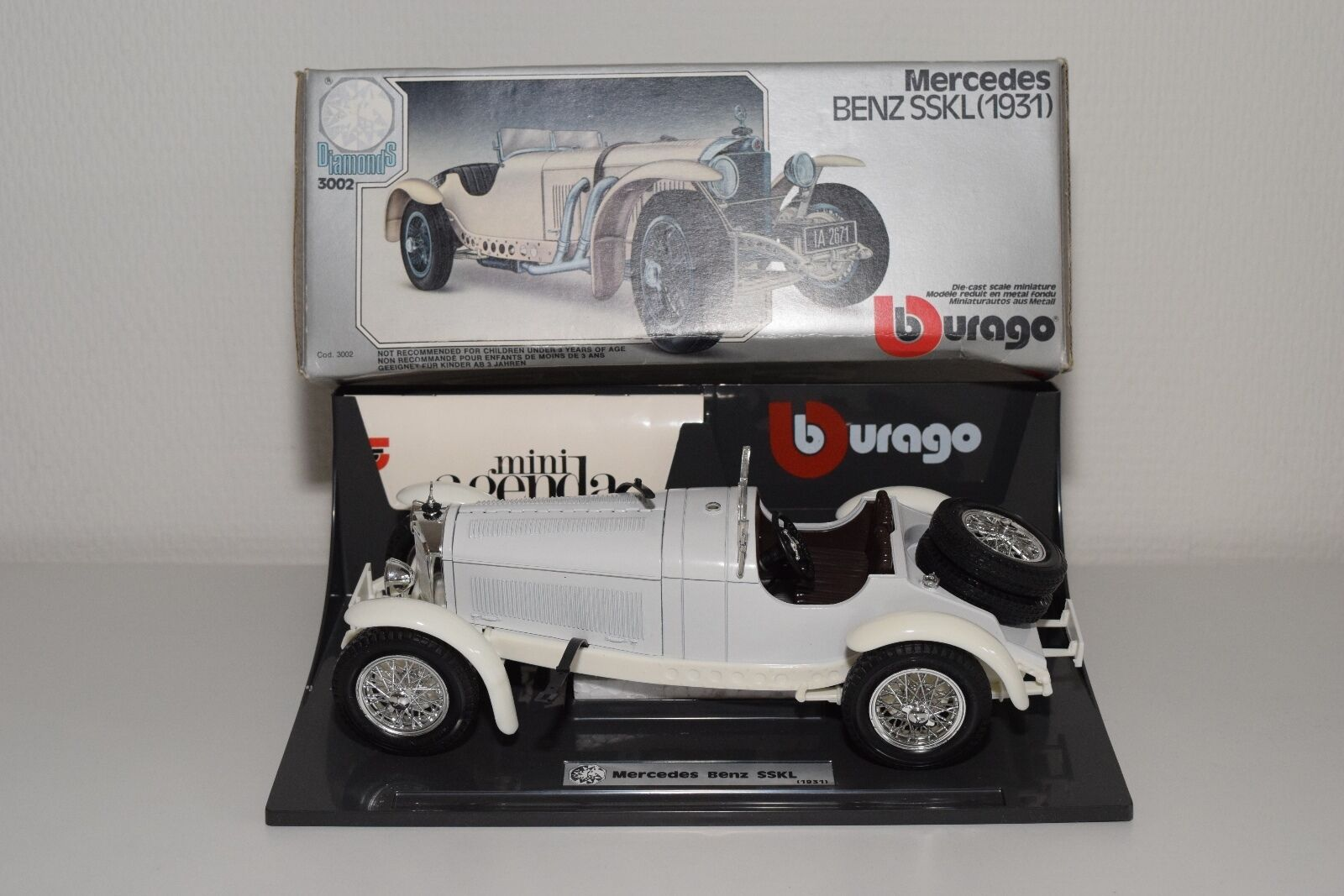 + BBURAGO BURAGO 3002 MERCEDES BENZ SSKL 1931 VN MINT BOXED RARE