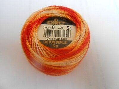 Perle DMC 8 algodón bola 10g Multicolor 91