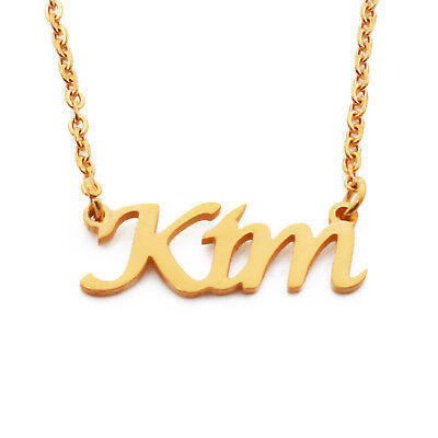 Silver Tone Kigu JANA Custom Name Necklace Personalized