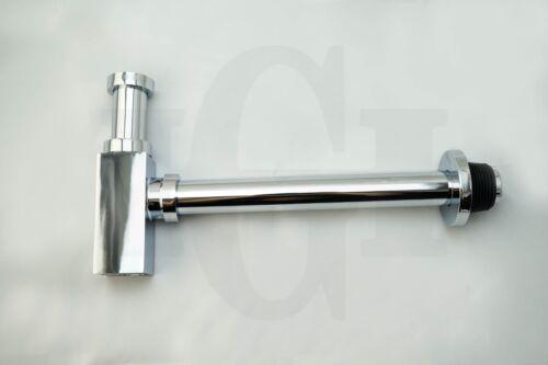 Square 32mm Polished Chrome Basin Sink Bottle Trap P-trap Waste Drain