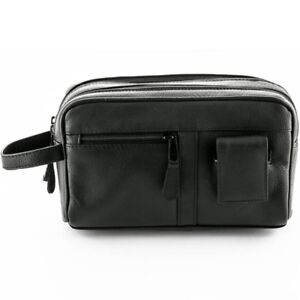b8ee3028a1 Image is loading Sonnenschein-Toiletry-Leather-Bag-With-Manicure-Set-Mens-