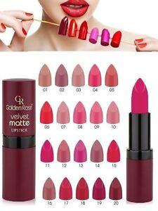 sferico si intende Perseo  Golden Rose Velvet Matte Lipstick Soft Lipstick with Vitamin E | eBay