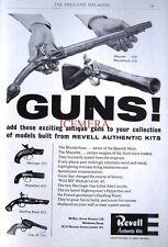 1959 REVELL Model Kits ADVERT Antique Guns - Original Print AD