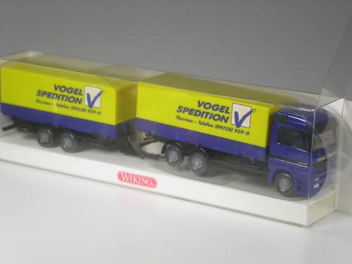Premio especial Wiking MB actros series modelo pájaro transportista en OVP