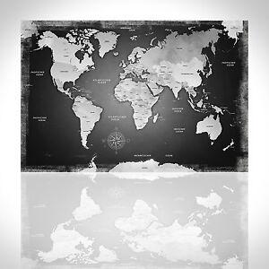 Leinwand Bild Xxl Weltkarte Wandbilder Kunstdruck Poster Deko