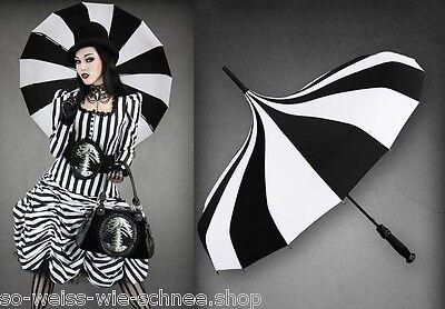 Restyle Gothic Lolita Regen Schirm Circus Umbrella  Parasol Cabar Pagode Stripes