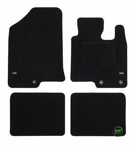 LOGO Fully Tailored black floor car mats for Hyundai i40 2011-up  4pcs set