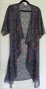 Lularoe-Donna-SHIRLEY-Kimono-Stampa-Paisley-Floreale-Velato-Taglia-Small