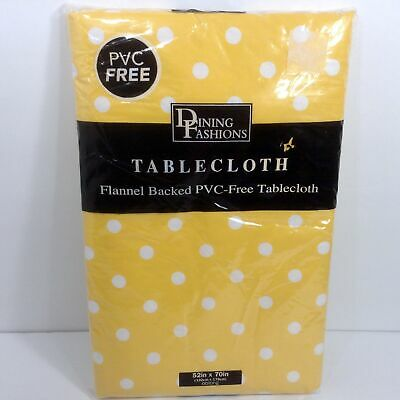 "Yellow Gingham Check Vinyl Tablecloth 52/"" x 52/"" Square ~ New"
