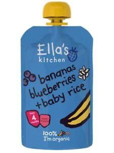 Amical Ellas Kitchen Stage 1 Banana & Blueberry Baby Rice 120 G (pack De 7)-afficher Le Titre D'origine
