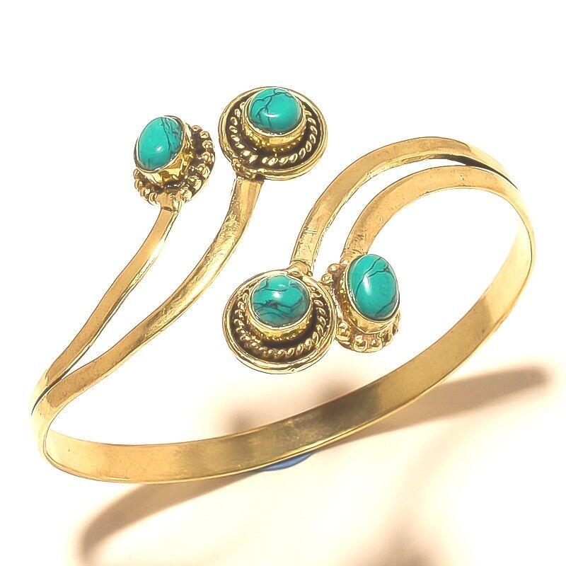 New Year Sale Jewelry Cuff Tibetan Silver Brass Turquoise
