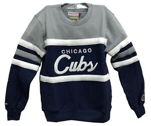 Mitchell-amp-Ness-Navy-Grey-MLB-Chicago-Cubs-Head-Coach-Sweatshirt