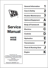 jcb service 8025z 8030z 8035z mini excavator manual ebay rh ebay co uk Bobcat Excavator Toy jcb micro excavator service manual