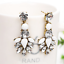 1Pair-Elegant-White-Feather-Shape-Crystal-Resin-Ear-Stud-Eardrop-Dangle-Earring thumbnail 5
