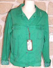 Veste en jeans verte neuve de marque JOCAVI taille 36 étiqueté à 199€