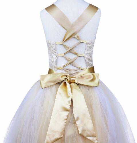 Flower Girl Princess Dress Party Birthday Wedding Formal Gown Kids Prom Dresses
